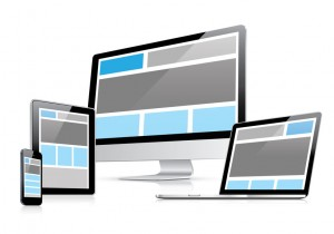 Responsive web design in electronic devices vector eps10
